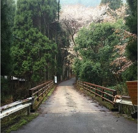 持越峠スタート地点の橋。短距離ながら急勾配。気合を入れて短期決戦。