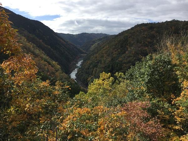六丁峠保津側の眺望