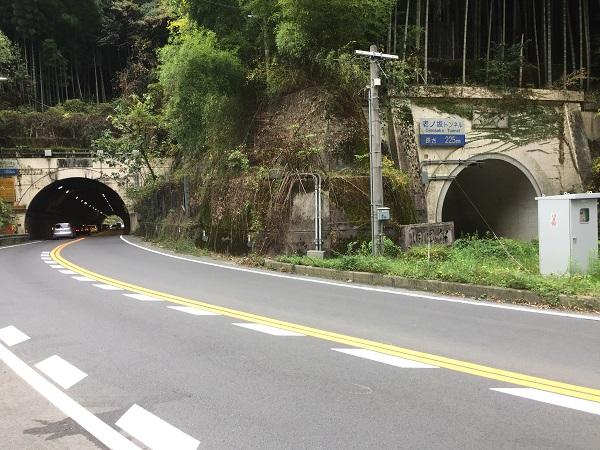 老ノ坂トンネル 京都側から